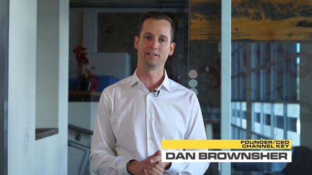Channel Key CEO, Dan Brownsher addressing the camera